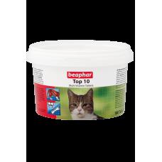 Beaphar Top 10 Cat - Комплекс 10-ти витаминов и минералов с биотином и таурином для котов, 180 табл. (арт. DAI13213)