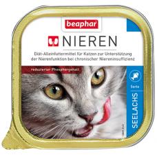BEAPHAR Kidney diet Salmon - полнорац. диет. корм для кошек с хрон. почеч. недостат., 100 г (с рыбой сайдой) (арт. DAI10889)