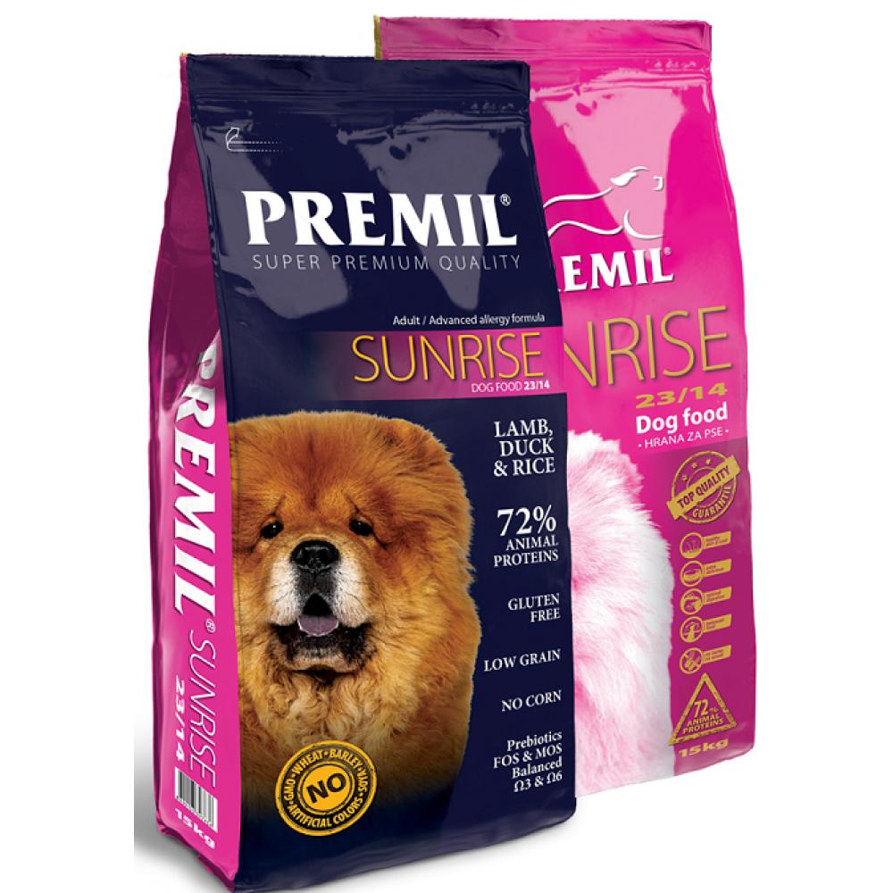 Premil SUNRISE - корм для собак и беременных сук, чувствительных, склонных к аллергиям