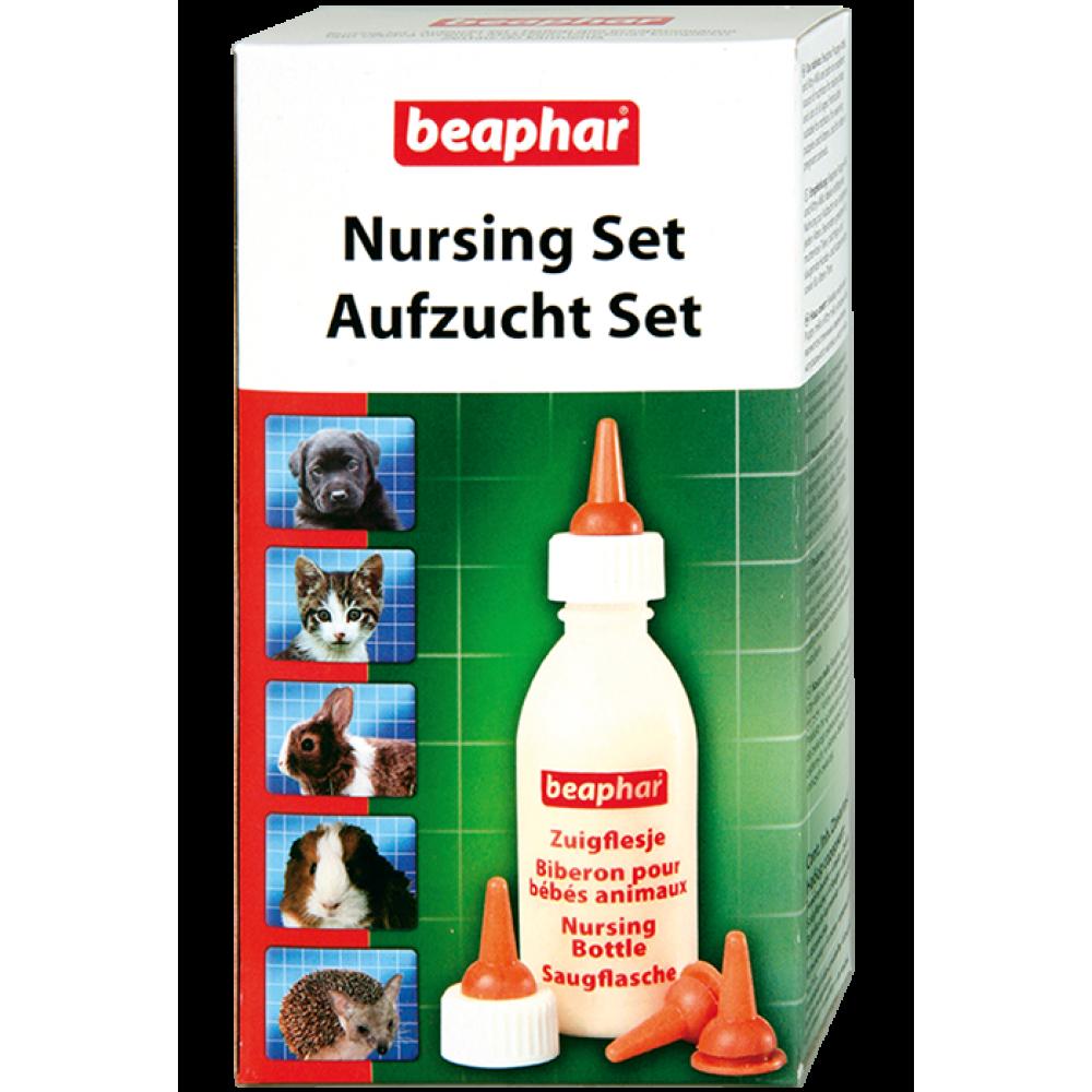Beaphar Nursing Set - набор для вскармливания щенков (бутылочка, 4 соски и ершик) (арт. DAI11246)