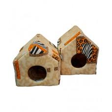 Cat House домик мягкий, поролон+хб (съемный 2-х сторонний матрац) несколько размеров (арт. CH65)