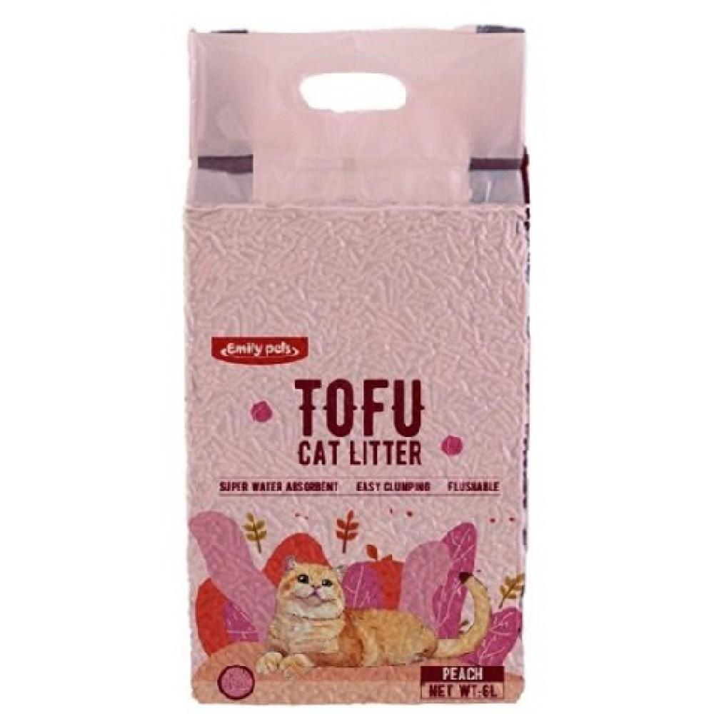 Emily Pets Тофу наполнитель с ароматом персика (арт. DK TF-004)