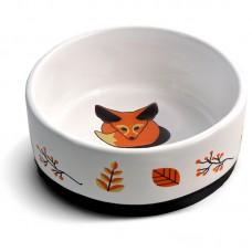 Triol Миска керамическая для кошек на резинке Лиса, 0,45 л. (арт. ТР 30231014)