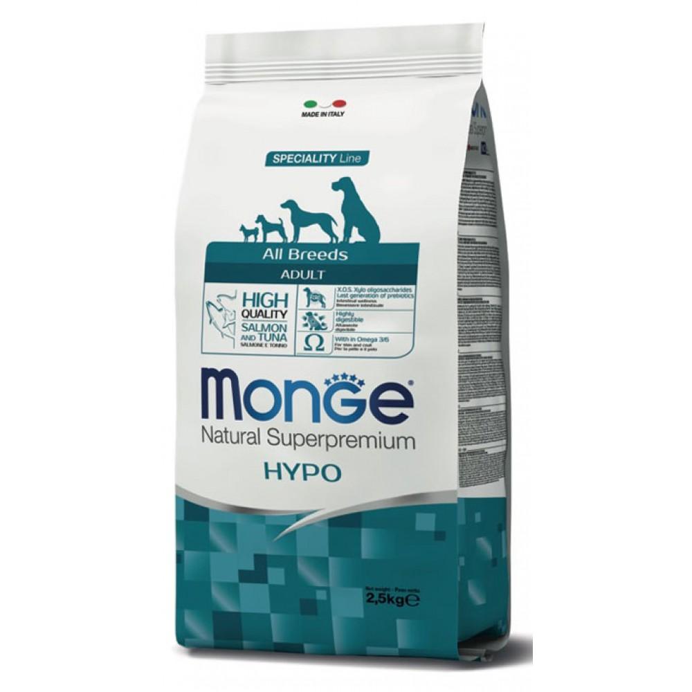 Monge Dog Hypoallergenic Fish - гипоаллергенный корм для собак с тунцом и лососем