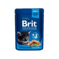 Brit Пауч (пресервы) для котят Chicken Chunks for Kitten Курица для котят, 100 г