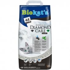 BIOKAT'S Diamond Care Classic - бентонитовый комкующийся наполнитель с активированным углем, алое вера, без аромата