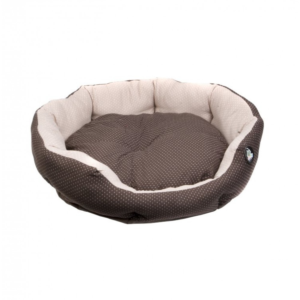 Comfy Pati лежанка круглая с подушкой для собак коричневая
