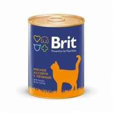 BRIT BEEF AND LIVER MEDLEY - консервы для кошек Мясное ассорти с печенью - 340 г (арт. 9426)
