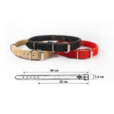Redplastic Ошейник 14 мм 2 слоя обхват 34-42см «Замша» для собак