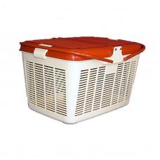 Dogman Корзина пластиковая квадратная для кошек, разные размеры (арт. TYZ D23, TYZ D11)