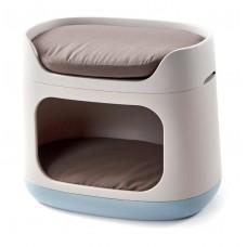 CURVER PETLIFE - Домик-трансформер 3 в 1 для собак (домик, лежак, переноска), 60 x 40.5 x 51 см.