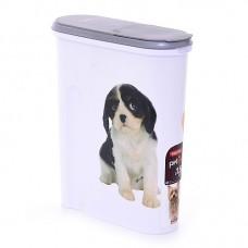 Контейнер для корма Собака на 1,5 кг, размер 25 х 10 х 30 см
