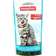 Beaphar Cat-A-Dent Bits - Подушечки для чистки зубов у кошек, 35 г (арт. DAI11406)