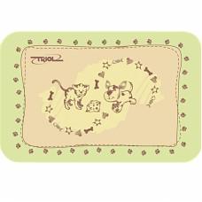 Коврик под миску Triol Кошечка и собачка, 43*28 см, для собак (арт. ТР 30211004)