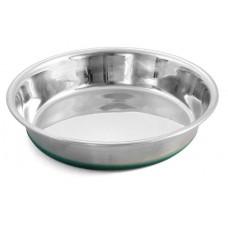 Миска-блюдце для кошек металлическая For Friendsс силиконовой резинкой 0,235 л. (арт. TYZ IN7003)