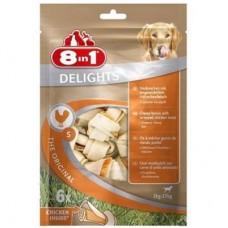 8 in 1 DELIGHTS S - косточки с куриным мясом для собак 11 см, 6 шт