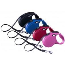 Flexi Поводок-рулетка для собак New Classic, ремень, (ХS) до 12 кг, 3 м. разные цвета